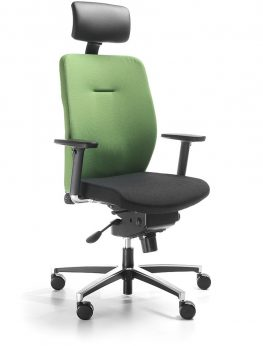 DUAL high back chair with headrest