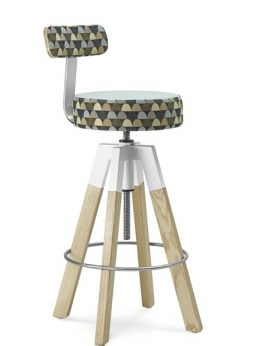 SPIN Stool with Back Rest