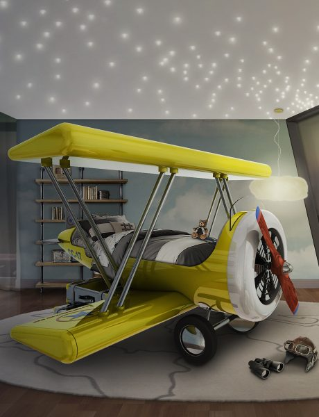 Sky B Plane Children's Bed