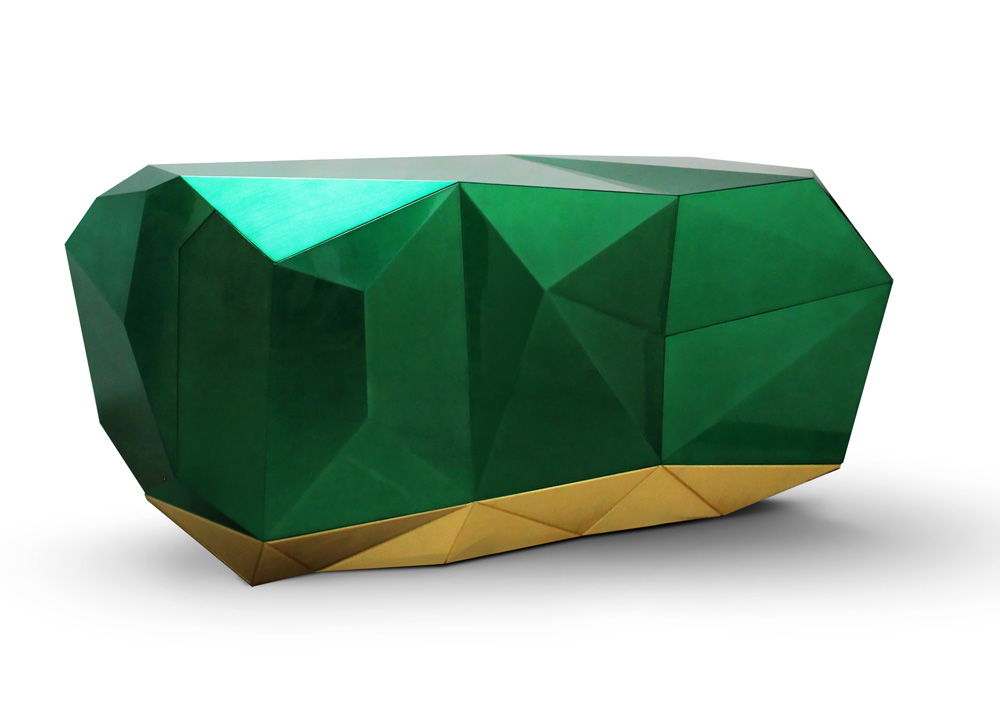 Diamond Sideboard in Emerald Green - dining room design
